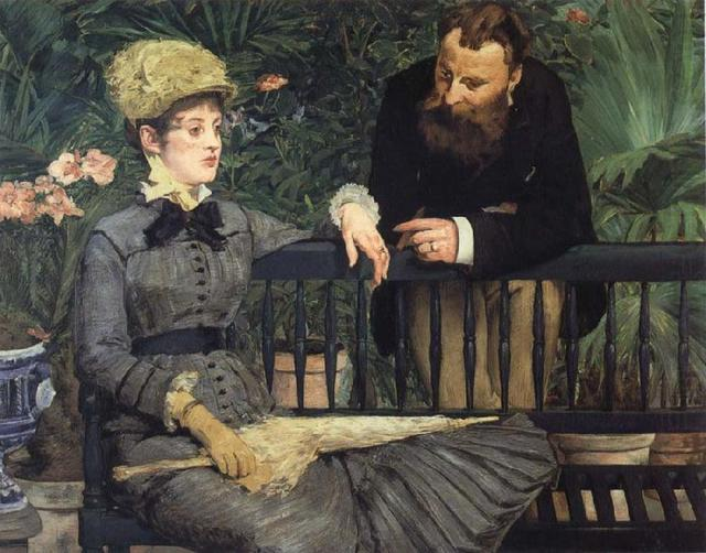 Edouard Manet in the winter garden