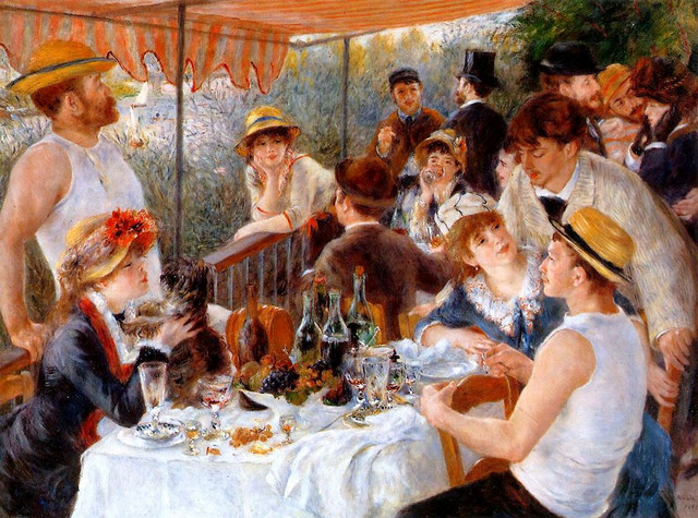 pierre auguste renoir's Luncheon of the Boating Party