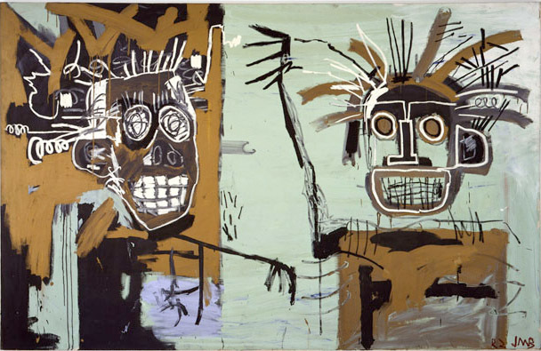 """Untitled (Two Heads on Gold)"", 1982 © The Estate of Jean-­Michel Basquiat/ADAGP, Paris, ARS, New York 2013. Courtesy Gagosian Gallery"