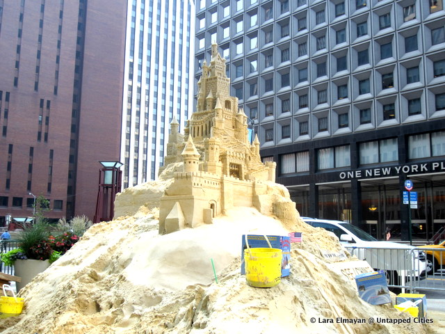 sand castle-Water St Financial District-NYC New York-Untapped Cities-Lara Elmayan