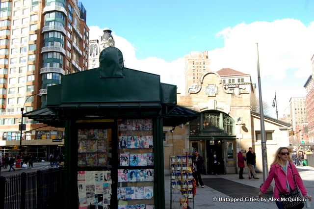 72nd Street Subway Entrance-Newsstand-NYC-Broadway-Amsterdam