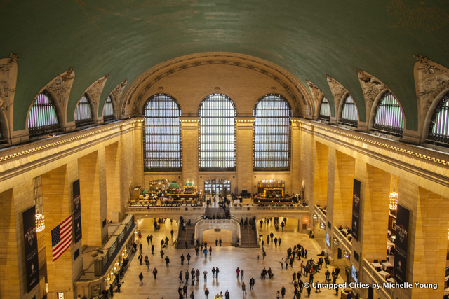 Grand Central-Aerial-View from Glass Walkways-NYC