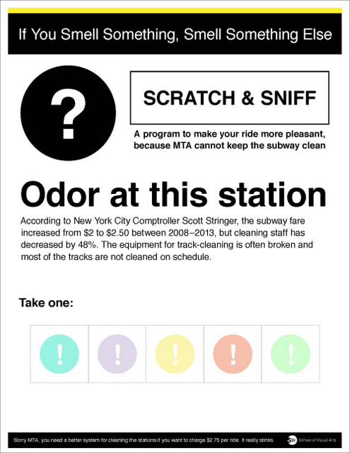If You Smell Something Smell Something Else-MTA Guerrilla Campaign-School of Visual Arts SVA-Angela Kim-NYC Subway-002